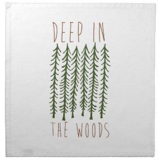 Profundamente en las maderas servilletas de papel