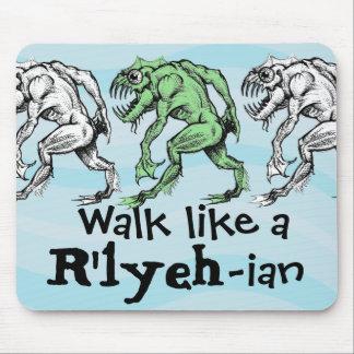 Profundamente uno - Paseo como un R'lyeh-ian - coj Tapetes De Ratón