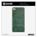 Profundamente verde oscuro en el final de cuero iPhone 4S calcomanías