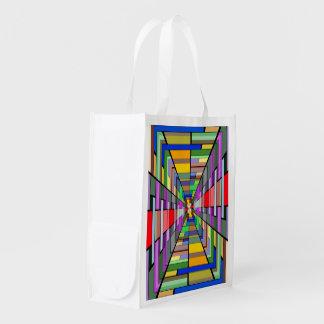 Profundidad abstracta bolsas reutilizables