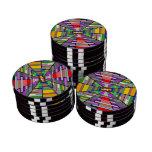 Profundidad abstracta juego de fichas de póquer