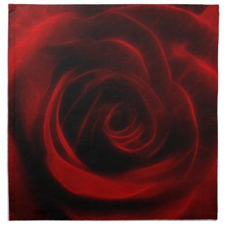 Profundidad del rosa rojo del amor servilletas