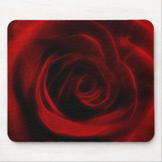 Profundidad del rosa rojo del amor tapete de ratones