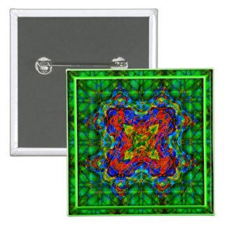 Profundidades esmeralda pin cuadrado