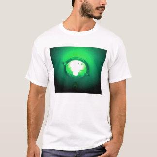 Profundo verde playera