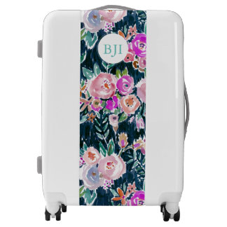 PROFUSION FLORAL Dark Rose Boho Luggage