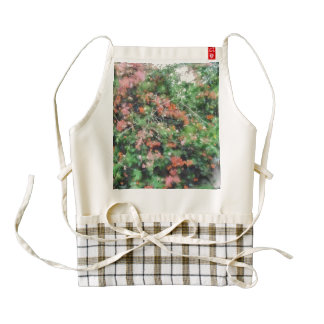 Profusion of beautiful flowers zazzle HEART apron