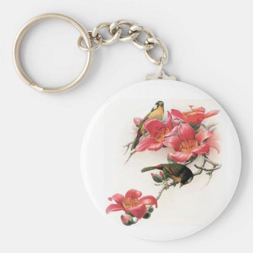 Profusión rosada llavero redondo tipo pin