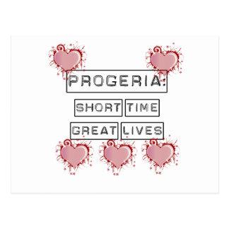 Progeria: Breve periodo de tiempo, grandes vidas c Tarjetas Postales