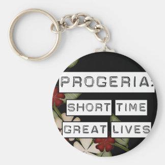 Progeria: Breve periodo de tiempo, grandes vidas,  Llavero Redondo Tipo Pin
