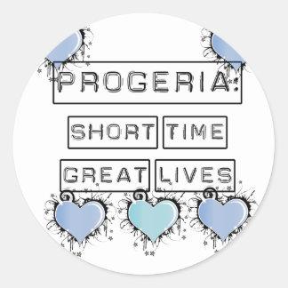 Progeria: Breve periodo de tiempo, grandes vidas, Pegatina Redonda