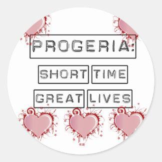 Progeria: Breve periodo de tiempo, grandes vidas Pegatina Redonda