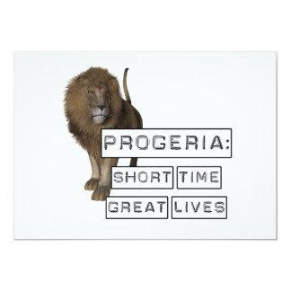 """Progeria: Grandes vidas del breve periodo de Invitación 5"""" X 7"""""""
