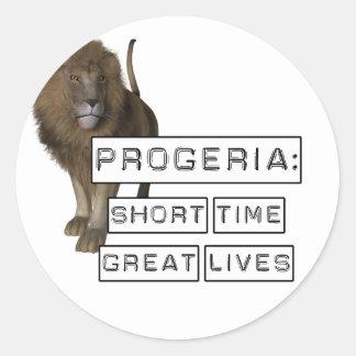 Progeria: Grandes vidas del breve periodo de Pegatinas Redondas