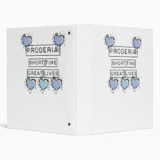 Progeria: Short Time, Great Lives, Blue Hearts 3 Ring Binder