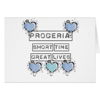 Progeria: Short Time, Great Lives, Blue Hearts Greeting Card