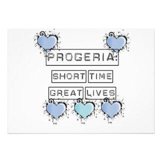 Progeria: Short Time, Great Lives, Blue Hearts Personalized Invite