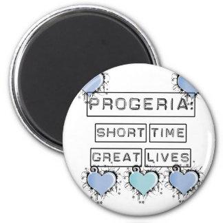Progeria: Short Time, Great Lives, Blue Hearts Refrigerator Magnet