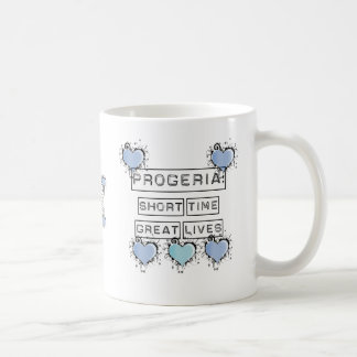 Progeria: Short Time, Great Lives, Blue Hearts Coffee Mugs