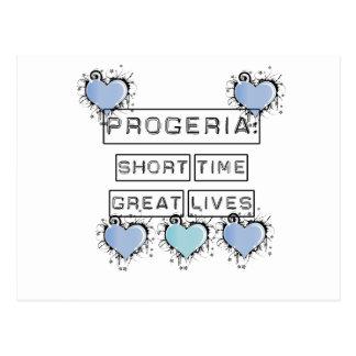 Progeria: Short Time, Great Lives, Blue Hearts Postcard