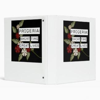 Progeria: Short Time, Great Lives, flower in black Binders