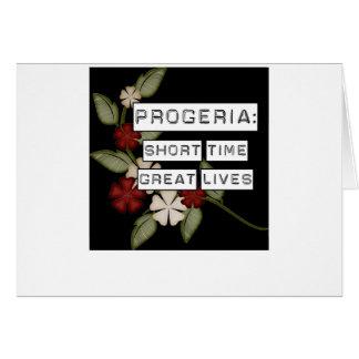 Progeria: Short Time, Great Lives, flower in black Card