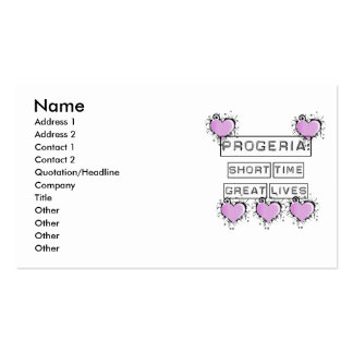 Progeria: Short Time Great Lives, Purple hearts Double-Sided Standard Business Cards (Pack Of 100)