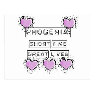 Progeria: Short Time Great Lives, Purple hearts Postcard