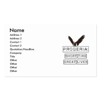 Progeria: Short Time Great Lives with eagle Double-Sided Standard Business Cards (Pack Of 100)