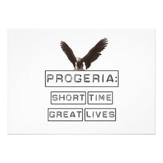 Progeria: Short Time Great Lives with eagle Custom Invitations