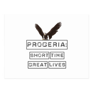 Progeria: Short Time Great Lives with eagle Postcard