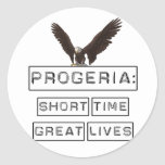 Progeria: Short Time Great Lives with eagle Classic Round Sticker