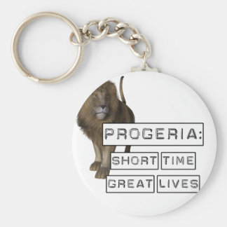 Progeria: Short Time Great Lives, with Lion Basic Round Button Keychain