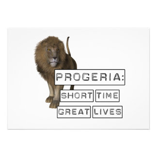 Progeria: Short Time Great Lives, with Lion Announcements