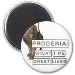 Progeria: Short Time Great Lives, with Lion Fridge Magnets