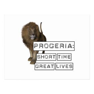 Progeria: Short Time Great Lives, with Lion Postcard