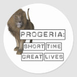 Progeria: Short Time Great Lives, with Lion Stickers