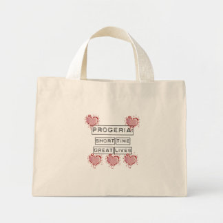 Progeria: Short Time, Great Lives with red hearts Mini Tote Bag