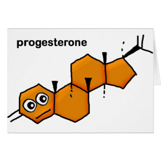 Progesterone Greeting Card