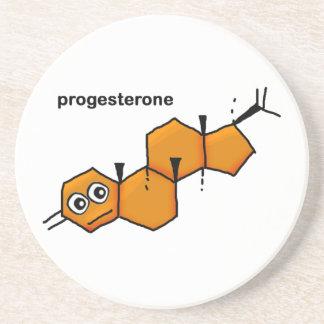 Progesterone Molecule Drink Coaster