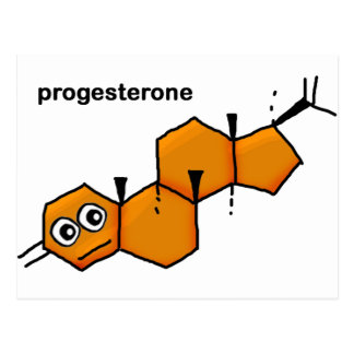Progesterone Postcard