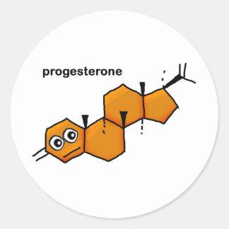 Progesterone Round Stickers