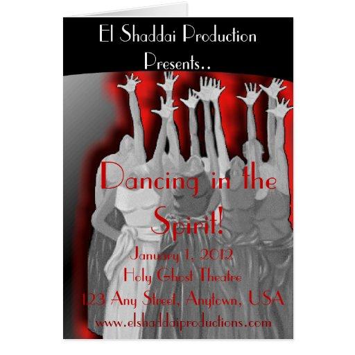 "Program ""Dancing in the Spirit"" Cards"