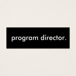 program director. mini business card