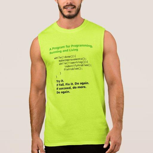 Program for Running, Programming and life Sleeveless Shirt Tank Tops, Tanktops Shirts