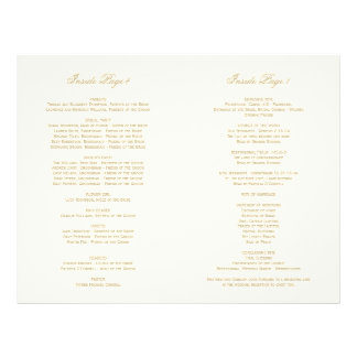 Program Interior Pages | Gold Calligraphy Design
