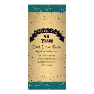 Program Jewel Confetti Birthday Party Celebration