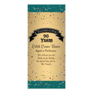Program Jewel Confetti Birthday Party Celebration Personalized Rack Card