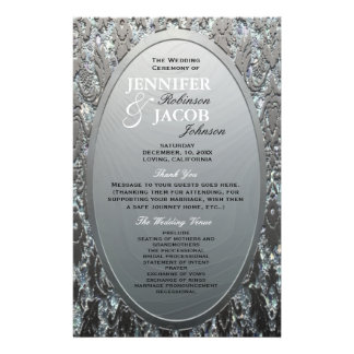 Program | Metallic Etched Silver Look Flyer