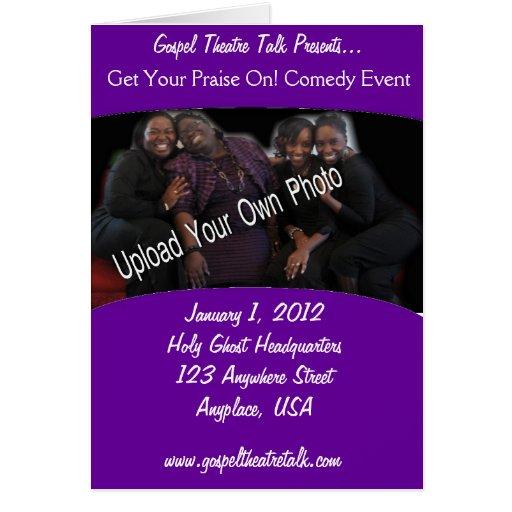 Program: Purple Fill In the Blank Greeting Card